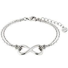 XENOX Damen Armband Unendlich Symbolic Power Edelstahl Silber 18,5 cm X2544