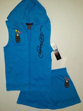 Ed Hardy Girls 2 PC Set Jacket Vest & Skort Outfit Size 4
