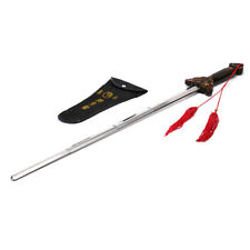 Outdoor Kung Fu Tai Chi Extension Sword Stainless Steel Telescopic Sword w/