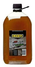 Linseed Oil Raw 4 Litre Natural Timber Sealer Protector Outdoor Furniture