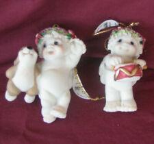 Dreamsicle Cherub Ornaments Set of 2 Bunny and Drum Dreamsicle Cherub Ornaments