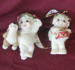 Dreamsicle Cherub Ornaments Set of 2 Bunny and Drum Dreamsicle Cherub Ornaments