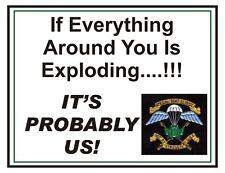 SBS Special Boat Service Exploding Regimental type fun Sticker