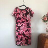LIZ JORDAN Pink Floral Bodycon Dress Womens size XL