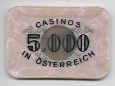 5000 Schilling Casinos in  Austria Jeton Token ----  Eiamaya