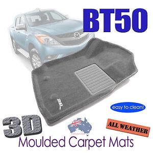 Fits Mazda BT50 Dual Cab 2012 - 2020 3D Car Floor Mats GREY Carpet