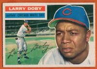 1956 Topps #250 Larry Doby EX-EXMINT Hall of Fame Chicago White Sox FREE SHIP