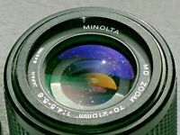 Minolta MD Zoom 70 by 210 49mm 1:4.5 - 5.6 Camera Lens w/ Bayonet Mount