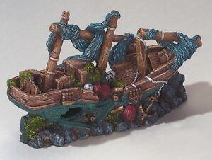 Piratenschiff Schiffswrack Schiff 38 cm Aquarium Deko Dekoration   234-107478