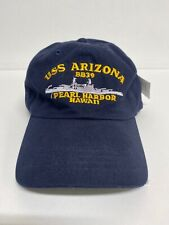 USS Arizona BB 39 Pearl Harbor Hawaii Hat Embroidered Adjustable Cap WW II USA
