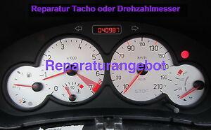 Reparatur Kombiinstrument Tacho oder DZM Peugeot 206 (KI mit 2 Steckern)