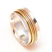 Solid 925 Sterling Silver Spinner Ring Meditation Ring Statement Ring Size st898