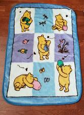New listing Classic Winnie the Pooh Luxury Fleece Baby Blanket Hunny Pots Unisex 30x45