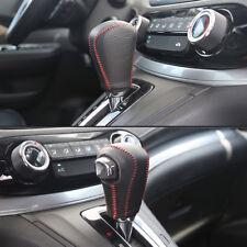 FOR Honda CRV 12-14 Hand-Stitched Leather Car Gear Shift Knob Stick Cover Trim