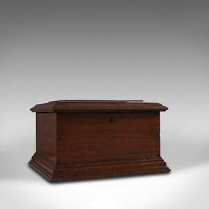 Small Antique Document Box, English, Walnut, Desk, Pen, Sarcophagus, Victorian