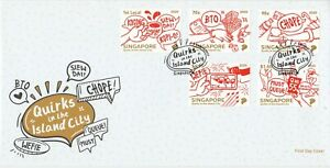 SINGAPORE 2020 QUIRKS IN THE ISLAND CITY FIRST DAY COVER WITH COMP. SET 5 STAMPS