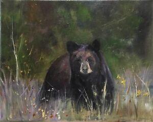 "Original oil painting, Animals, BEAR 8x10"" Schelp"