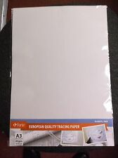 Forte 10 sheets  A3  80gsm High Quality Tracing Paper