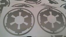 """STAR WARS SILVER 2.75"""" TIE pilot helmet cog decals"""