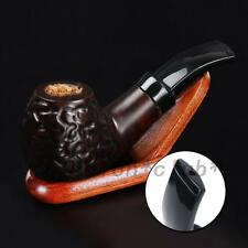 Ebony Wooden Men High-ended Smoking Pipe Tobacco Cigarettes Cigar Pipes Gift UK