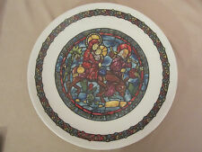 Flight Into Egypt collector plate D'Arceau-Limoges Stained Glass