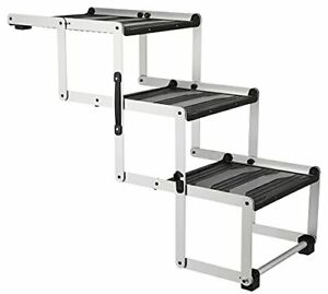 TRIXIE Heavy Duty Foldable Aluminum Pet Steps for Dogs Up to 165 Pounds Heigh...