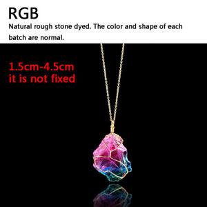 Reiki Necklace Natural Gemstone Stone Crystal Quartz Healing Chakra Pendant
