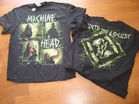 MACHINE HEAD RECTANGLE UNTO LOCUST OOP/RARE  LIC. 2011 DEADSTOCK shirt Sz LG