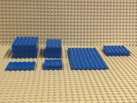 LEGO Studded Base Plates - Lot of 17 Blue : Size 8 X 16 to 4 X 4