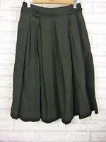 Cue A-line pleated skirt Black Sz 8