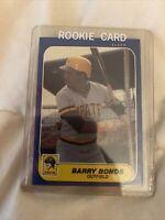 Barry Bonds 1986 Fleer U-14 ROOKIE