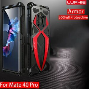 LUPHIE Metal Silicone Shockproof Protective phone case For Huawei Mate 40 Pro +