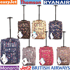 Upright (2) Soft Up to 40L Suitcases with Extra Compartments