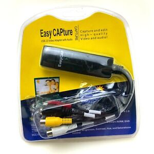 Easy Capture Video Adapter with Audio   USB 2.0   DVD, VCR Record to PC
