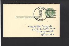 LA LUZ, NEW MEXICO, 1950 GOVERNMENT POSTAL CARD, OTERA CO 1886/OP.