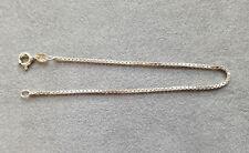 """Solid Sterling Silver 7.5"""" Box Link Bracelet No 3192"""
