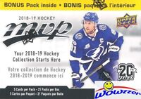 2018/19 Upper Deck MVP Hockey EXCLUSIVE HUGE 21 Pack Factory Sealed Blaster Box