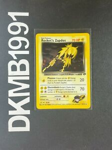 Rocket's Zapdos 15/132 HOLO RARE Pokemon Card Gym Challenge Set WOTC MINT / NM