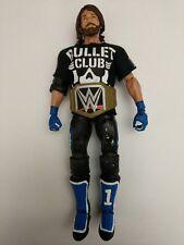 WWE AJ Styles Figure Mattel Elite CUSTOM WWF TNA NJPW Bullet Club Shirt Title