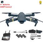 Eachine E58 Drone x pro Drone Selfi WIFI w/1080 HD Camera Quadcopter 4 Batteries