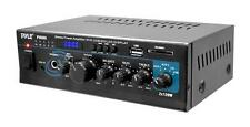 New Pyle PTAU55 2 X 120W Home Stereo Power Amplifier W/USB AUX SD CD Mic Input