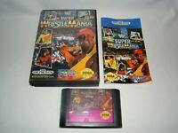 Sega Genesis WWF Super WrestleMania game cartridge w/ case & manual, tested