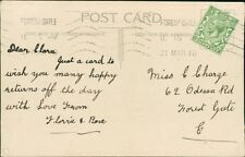 Clara Charge. 62 Odessa Road, Forest Gate, London 1916  RM.484