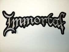 IMMORTAL    SHAPED  SILVER  EMBROIDERED BACK PATCH