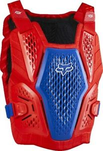 Fox Raceframe Impact Motrocross Offroad Race Body Armour Red White Blue Adults