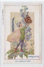 THE LARKSPUR FAIRY: Fairy postcard by Margaret Tarrant (C28495)