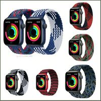 Nylon Elastic Braided 38 40 42 44mm Strap For Apple iWatch Series 6 5 4 3 2 1