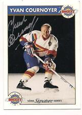 Zellers Signature Series HOF Auto Yvan Cournoyer Montreal Canadiens
