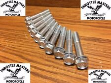 Grade 8 Flanged Head Bolt Kit fits Harley Shovelhead '77-'84