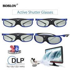 4 Packs Active Shutter 3D Glasses DLP-Link 96~144Hz Rechargeable For Projectors